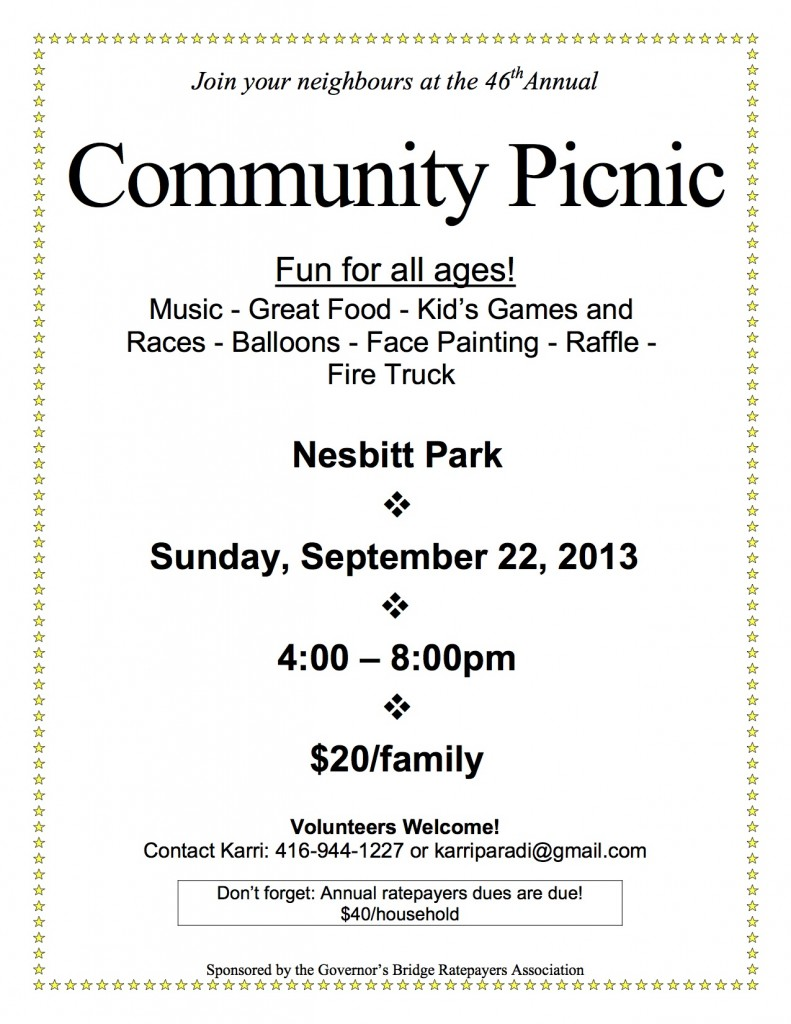 community picnic 2013 - poster version