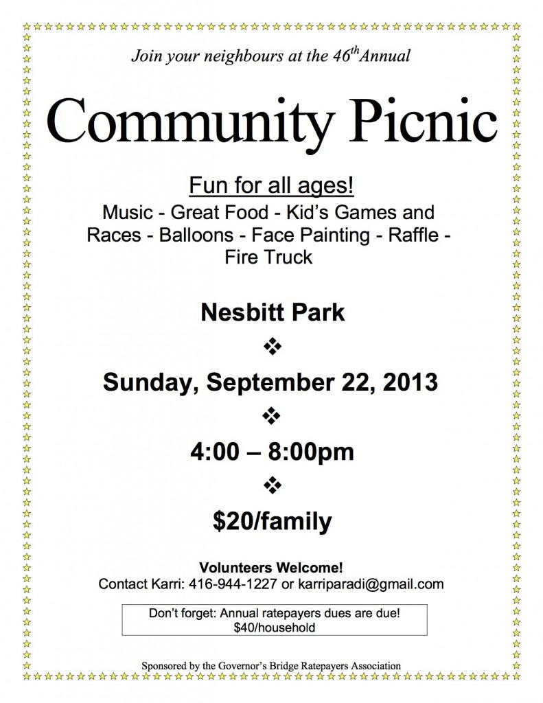 community picnic 2013 - poster version