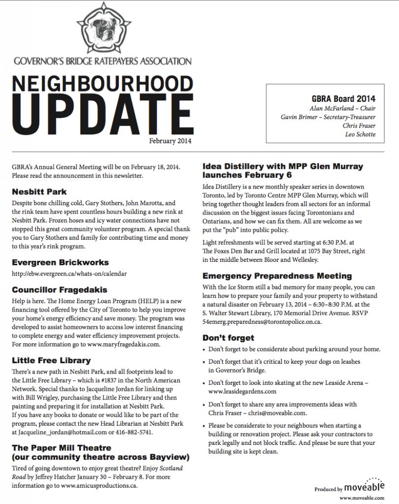 GBRA Newsletter Page 1